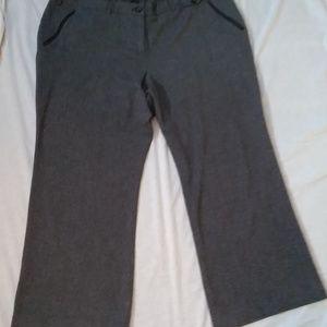 Lane Bryant  26 Reg Gray Herringbone Knit Pants